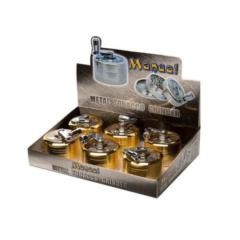 6 x 3 Parts Manual Metal Gold Grinder - HX058SY-3G