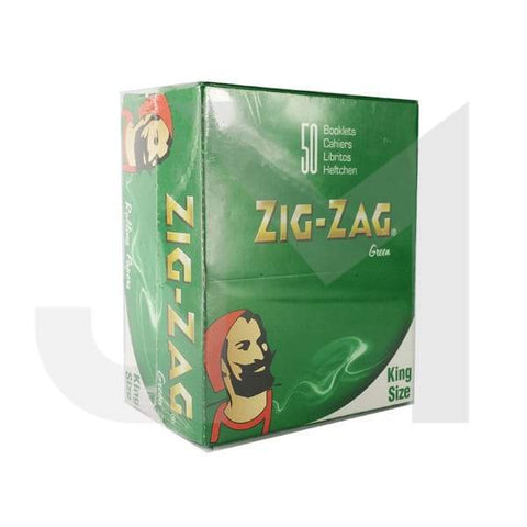 50 Zig-Zag Green King Size Rolling Papers