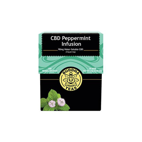 Buddha Teas CBD Peppermint Infusion Tea Bags 5mg