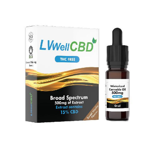LVWell CBD 500mg Winterised  10ml Hemp Seed Oil