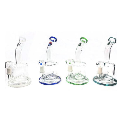 "6 x 8"" Small Oil Glass Bong - OB-53"