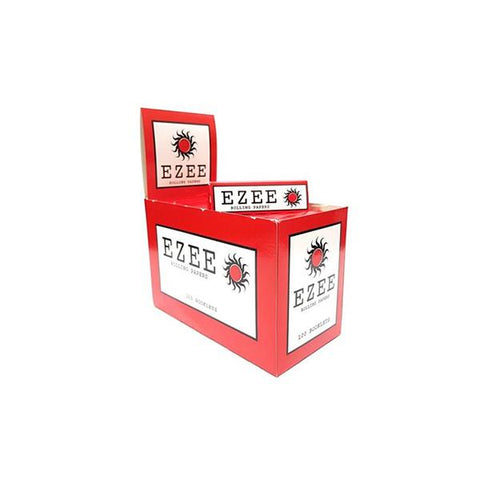 100  Ezee Red Cut Corner Regular Rolling Papers