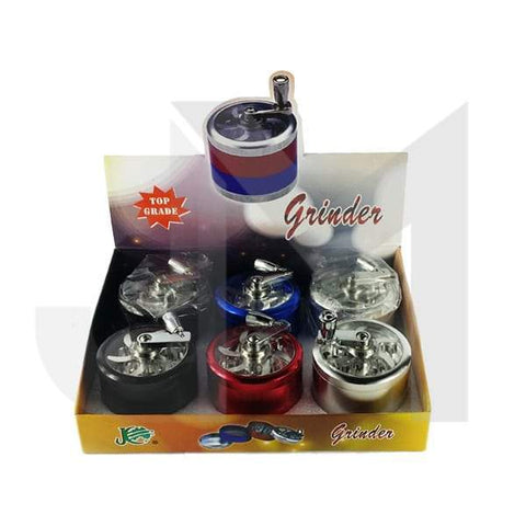 4 Parts JC Manual Metal Coloured 60mm Grinder