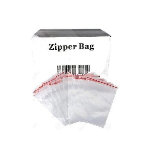 5 x Zipper Branded 75mm x 125mm  Clear Baggies