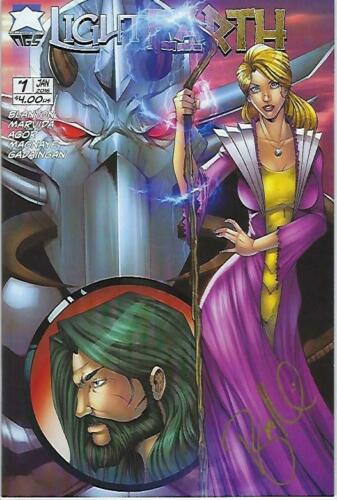 Light Earth # 1 Ryan Kincaid Wrap Around Cover Signed !!! NM