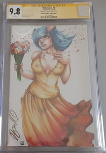 Unnatural # 9 Ryan Kincaid & Unknown Comics Virgin Variant Cover Signed !!!   CGC 9.8 SS