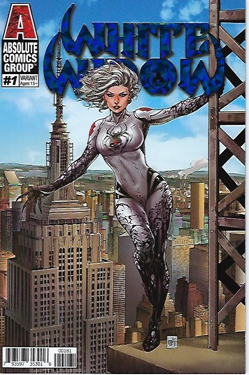WHITE WIDOW # 1 MIKE KROME EMPIRE VARIANT FOIL COVER KICKSTARTER EDITION !!! NM