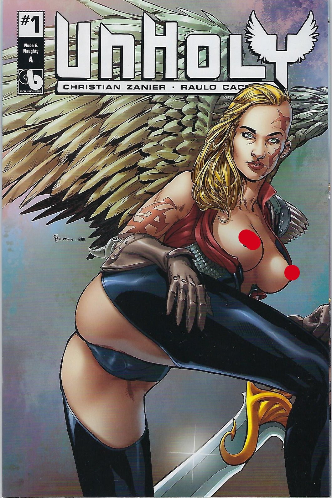 Unholy # 1 Nude & Naughty Variant Cover