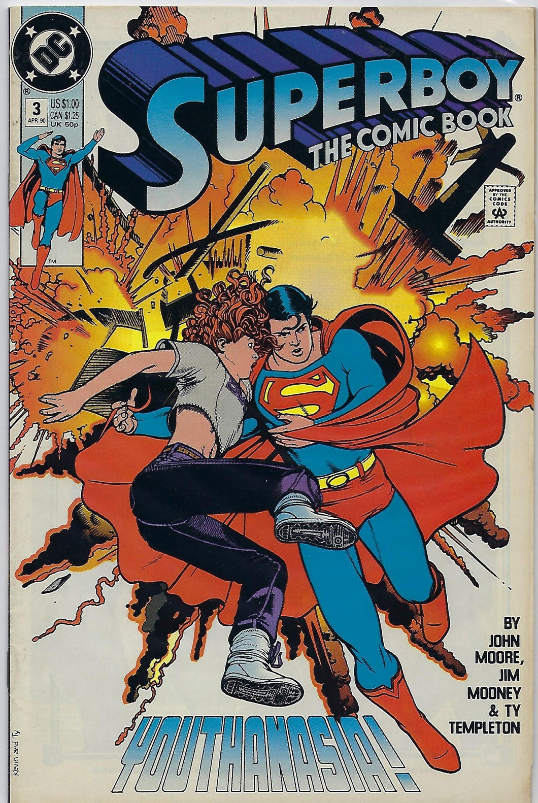 Superboy The Comic Book # 3 !!!  1990 !!  VF+