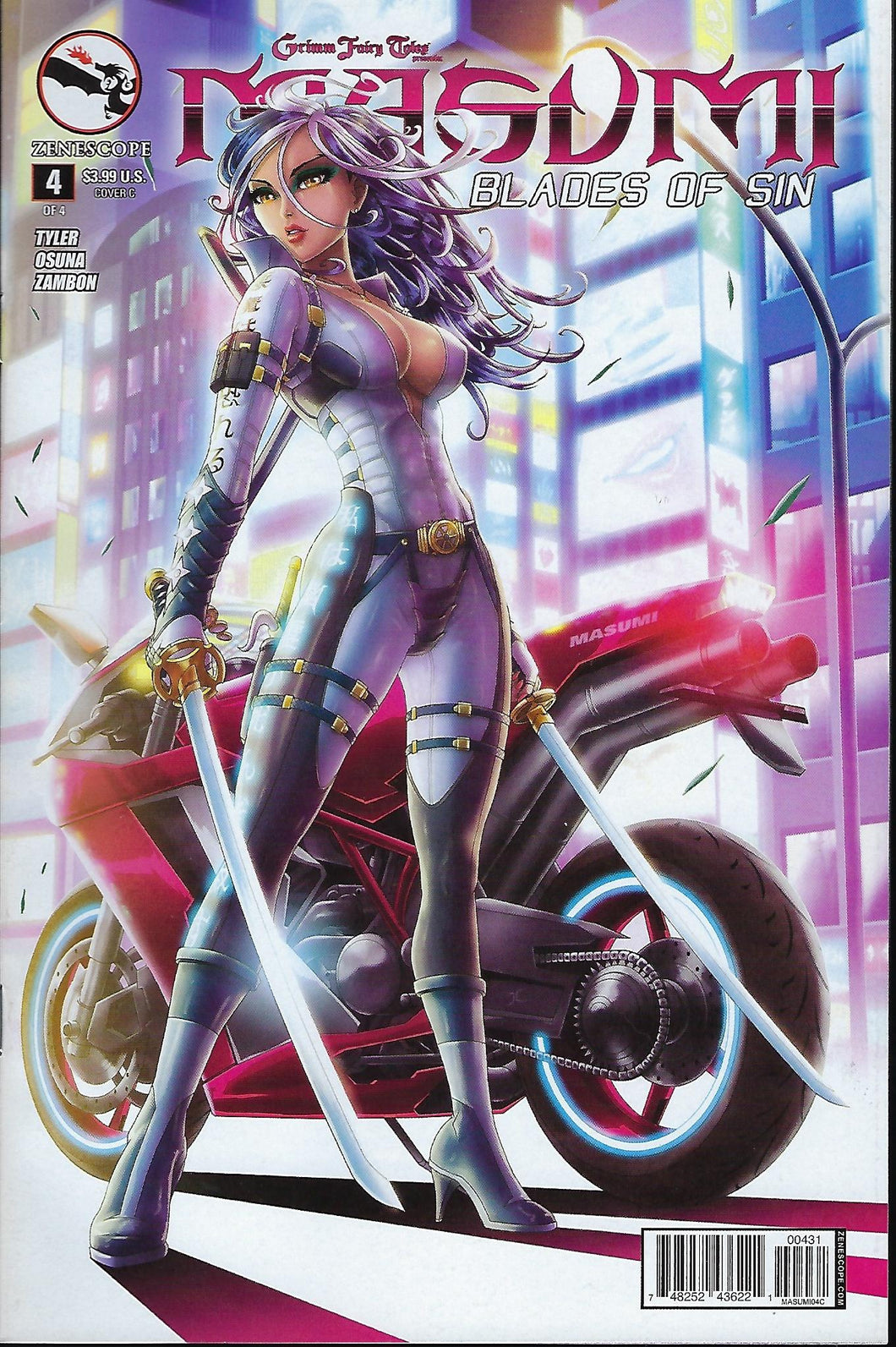 Masumi : Blades of Sin # 4 Jason Cardy Variant Cover
