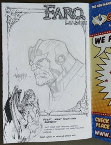 Faro's Lounge Alaska Edition Signed By Faro Kane & Jose Varese W/Original Art Thanos !!  NM