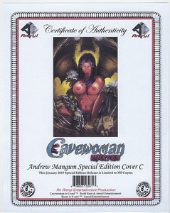 "Cavewoman : Razor's Run Andrew Mangum Limited to 350 Nude Virgin Variant Cover ""C"" With Cert  !!  NM"