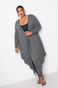 Bubbled Hem Waterfall Cardigan - Starlight Trends