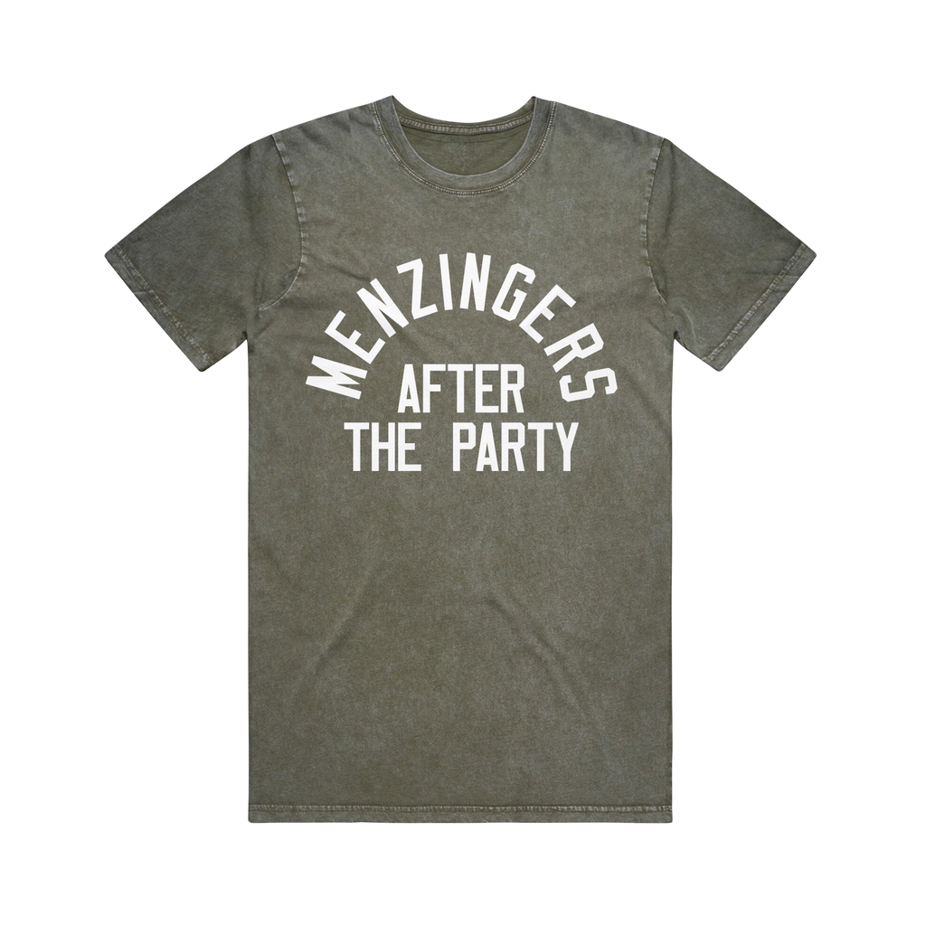 After The Party Moss Stone Wash T-Shirt