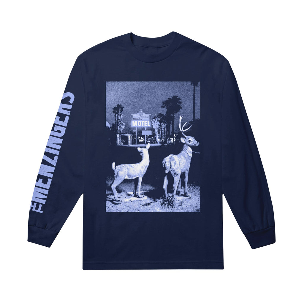 Deer Navy Long Sleeve Tee