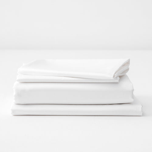 100% Organic Cotton Sateen Bed Sheet Set 4-piece - Aeptom