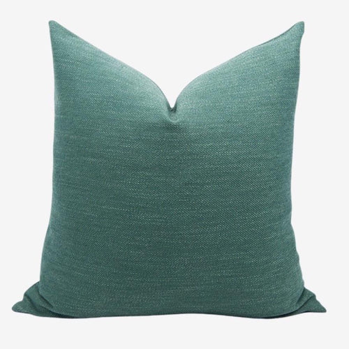 Linen Throw Pillow Cover, 20x20'' Emerald Green - Aeptom