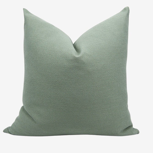 Linen Throw Pillow Cover, 20x20'' Sage Green - Aeptom