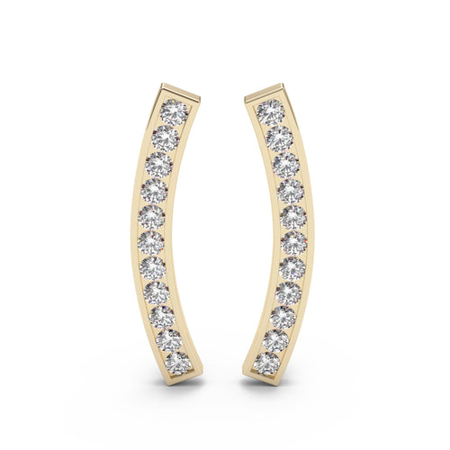Channel Set Diamond Ear Climbers