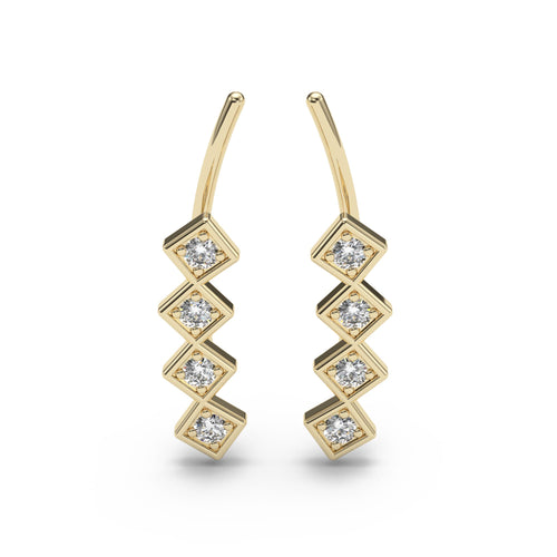 Art Deco Diamond Ear Climbers