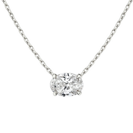 East-West Oval Diamond Necklace