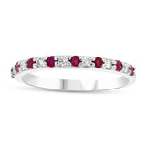 Diamond & Ruby Semi-Eternity Band