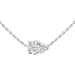 East-West Pear Diamond Necklace