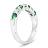 Emerald & Diamond 7-Stone Ring