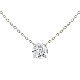 Solitaire Round Diamond Necklace