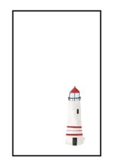 Nautical Notepad Large - Lighthouse