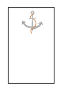 Nautical Notepad Small - Anchor