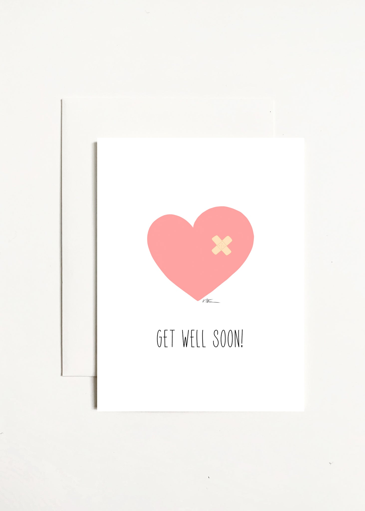 Get Well Soon! - Heart With Band Aid
