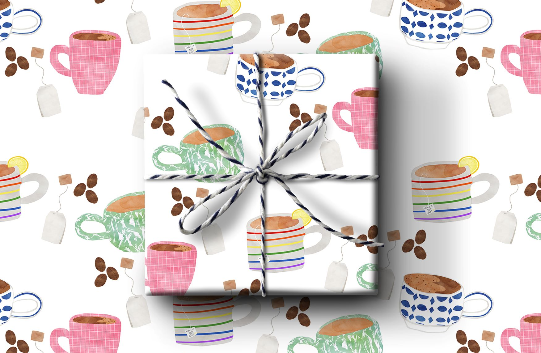 Mugs Wrapping Paper