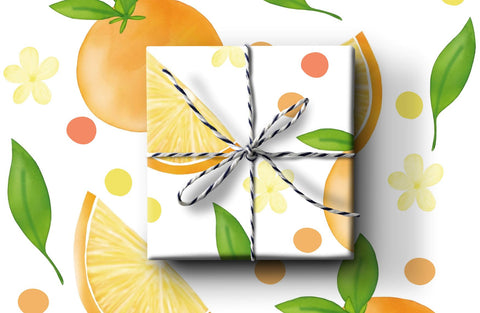 Oranges Wrapping Paper