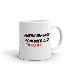 ABCD - American Born Confidently Desi - White Glossy Mug