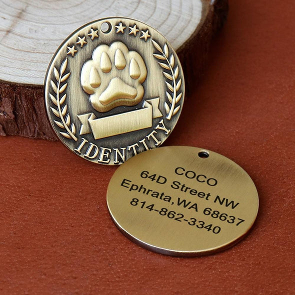 Military Round Pet ID Tag