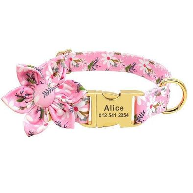 Custom Collar - Pink Daisy
