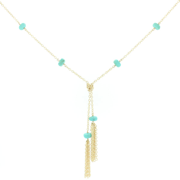 Evelyn Long Necklace In Turquoise