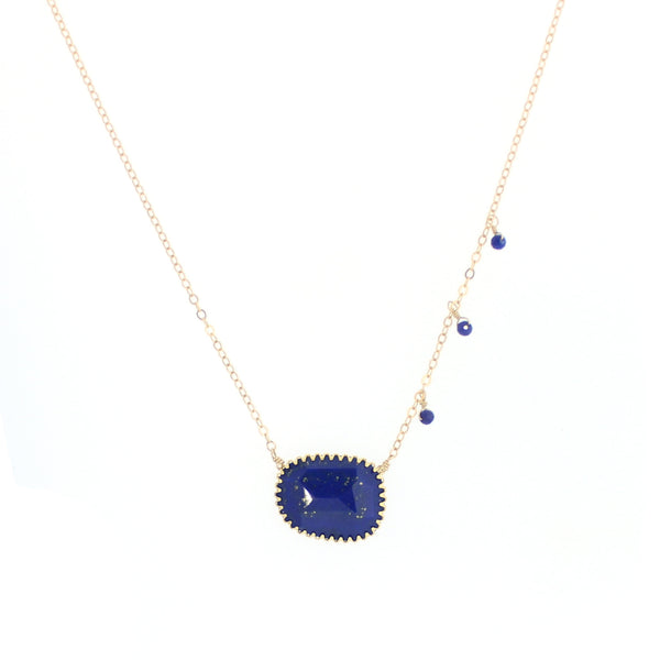 Harper Necklace in Lapis