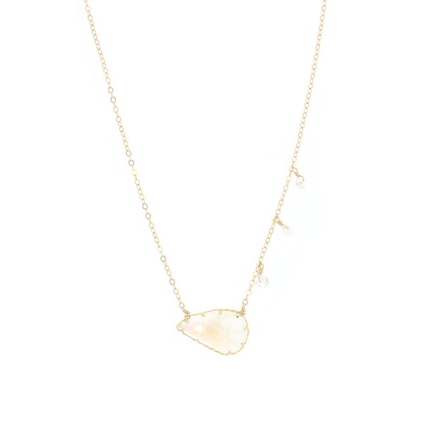 Harper Necklace in Moonstone