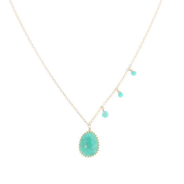 Harper Necklace in Amazonite