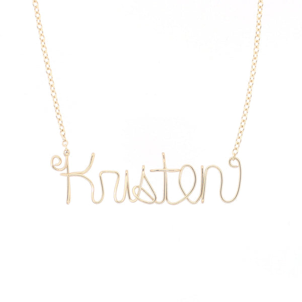 Wire Name Necklace |Custom|