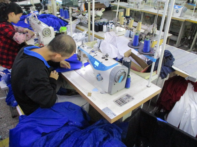 Our production facility: Dongguan Lanwo Clothing Co