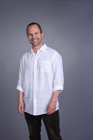 The Nordic Storm - Classic linen shirt - Men