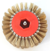"Load image into Gallery viewer, Light Distressing - Hub and steel brushes 4"" in width - Drill Chuck"