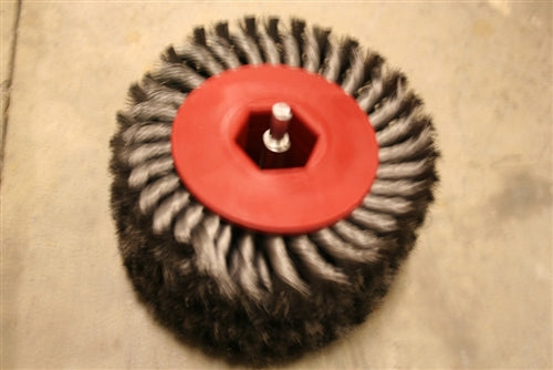 "Twisted Steel Brush Made For A drill - 2"" or 4"" widths"