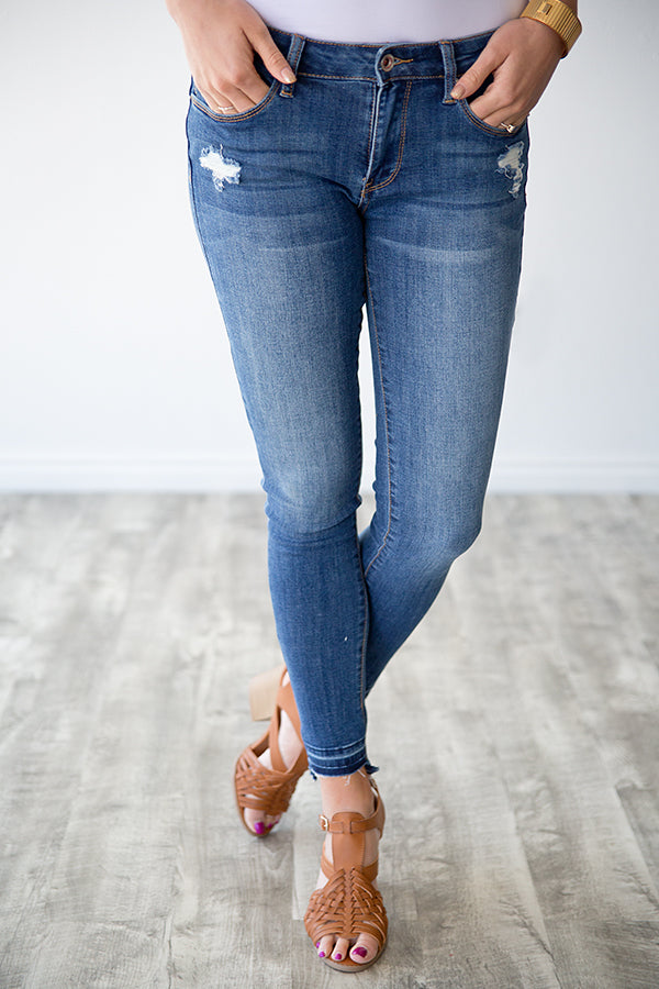 TATUM STEP HEM MEDIUM WASH DENIM