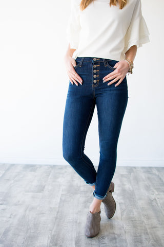 TENLEY BUTTON FRONT DENIM