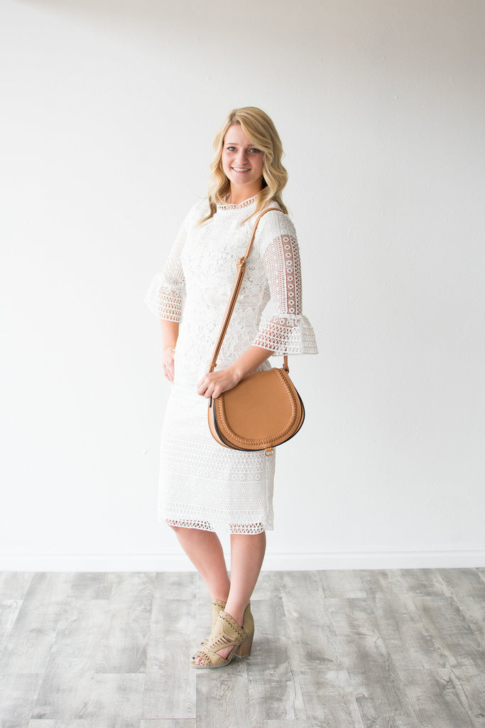 KEMREE LACE DRESS | IVORY