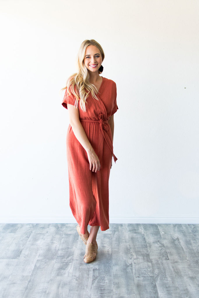 PUMPKIN SPICE JUMPSUIT | RUST